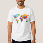 Mapa del mundo polera