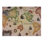 Mapa del mundo postal