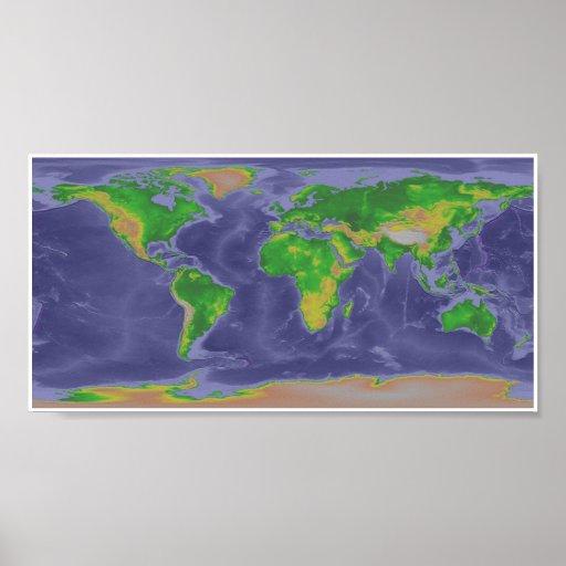 Mapa del mundo póster
