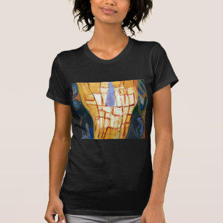 Mapa del mundo primitivo simbolismo abstracto del camiseta