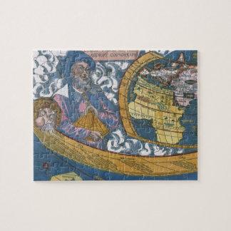 Mapa del mundo Ptolemaic antiguo; Claudius Puzzle
