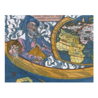 Mapa del mundo Ptolemaic antiguo; Claudius Postal