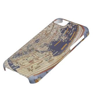 Mapa del mundo Ptolemaic antiguo del vintage, 1482 Carcasa Para iPhone 5C