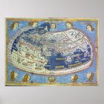 Mapa del mundo Ptolemaic Posters