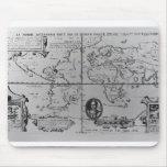 Mapa del mundo que detalla a las expediciones alfombrillas de raton