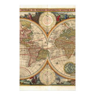 Mapa del mundo raro e histórico viejo antiguo  papeleria de diseño