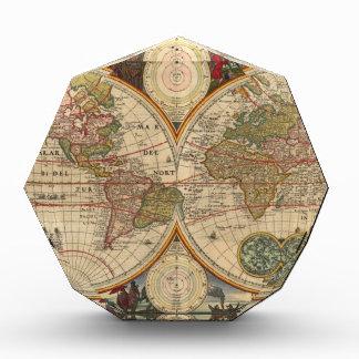 Mapa del mundo raro e histórico viejo antiguo