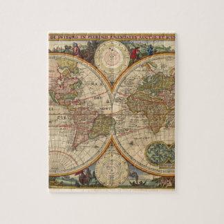 Mapa del mundo raro e histórico viejo antiguo puzzle
