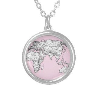mapa del mundo rosado grimpola