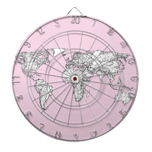 mapa del mundo rosado tabla dardos