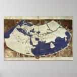 Mapa del mundo sabido, de 'Geographia Póster