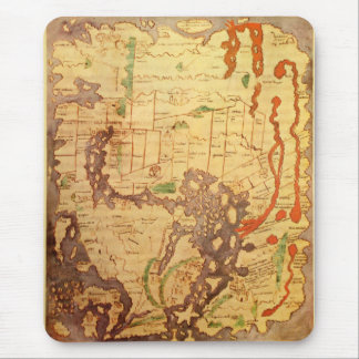 Mapa del mundo sajón Anglo Alfombrilla De Raton