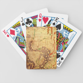 Mapa del mundo sajón Anglo Baraja Cartas De Poker