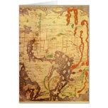 Mapa del mundo sajón Anglo Felicitación