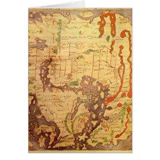 Mapa del mundo sajón Anglo Tarjeta De Felicitación