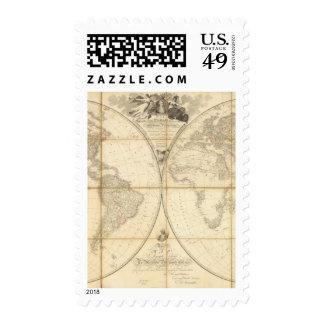 Mapa del mundo sellos