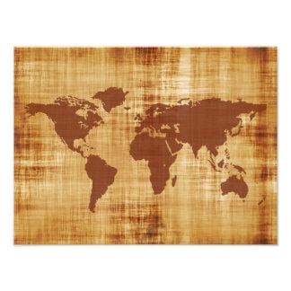 Mapa del mundo sucio texturizado cojinete