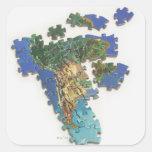 Mapa del mundo, Suramérica 2 Pegatina Cuadrada