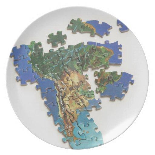 Mapa del mundo, Suramérica 2 Platos