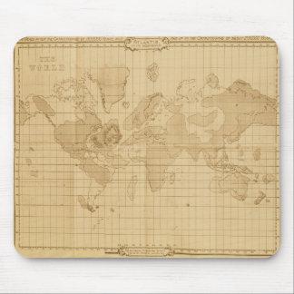 Mapa del mundo alfombrillas de raton