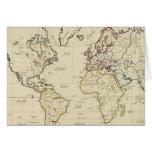 Mapa del mundo tarjeta