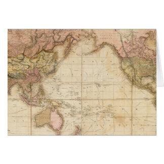 Mapa del mundo tarjeta de felicitación
