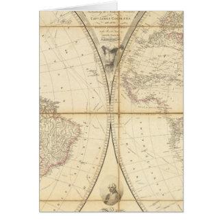Mapa del mundo tarjetas