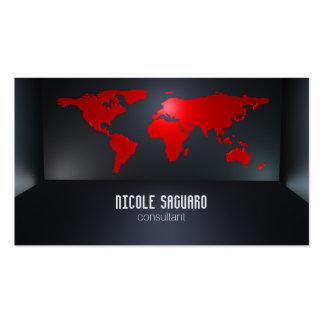 Mapa del mundo tarjetas de visita