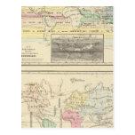 Mapa del mundo tarjetas postales