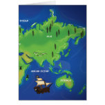 Mapa del mundo tarjeton