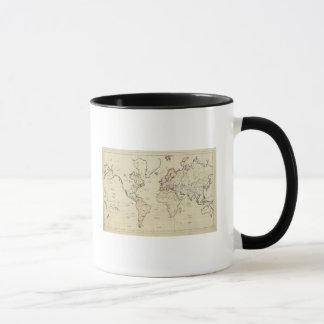 Mapa del mundo taza