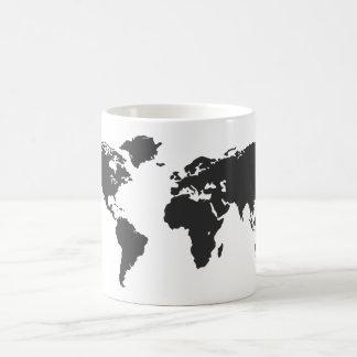 Mapa del mundo tazas de café