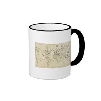 Mapa del mundo tazas