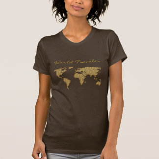 MAPA DEL MUNDO texturizado Camisetas