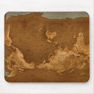 Mapa del mundo - upside-down tapetes de raton