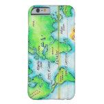 Mapa del mundo y del ecuador funda de iPhone 6 barely there