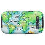 Mapa del mundo y del ecuador galaxy SIII cobertura