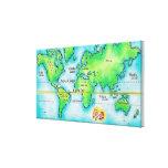 Mapa del mundo y del ecuador lona estirada galerias