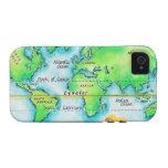 Mapa del mundo y del ecuador vibe iPhone 4 funda