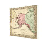 Mapa del nanovatio América de Mitchell Impresión En Lona