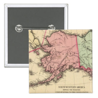 Mapa del nanovatio América de Mitchell Pin Cuadrada 5 Cm