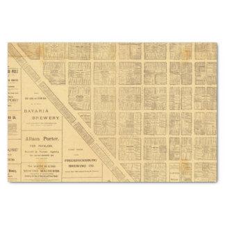 Mapa del negocio de San Francisco Papel De Seda Pequeño