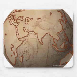 Mapa del nivel del mar tapete de ratón