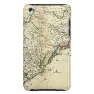 Mapa del norte y de Carolina del Sur Cubierta Para iPod De Barely There