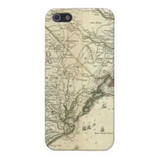 Mapa del norte y de Carolina del Sur iPhone 5 Carcasas