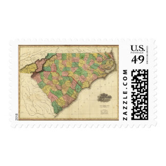 Mapa del norte y de Carolina del Sur Franqueo