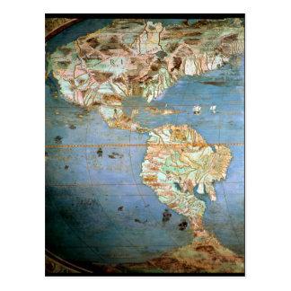 Mapa del norte y de Suramérica Postales