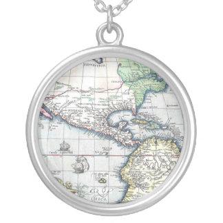 Mapa del nuevo mundo 1570 de Américas Collares Personalizados