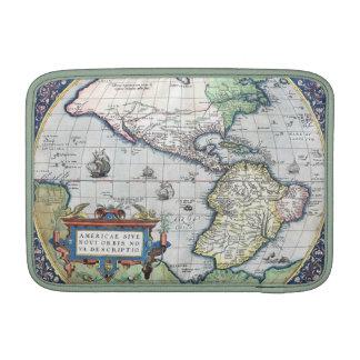 Mapa del nuevo mundo 1570 de Américas Fundas Macbook Air
