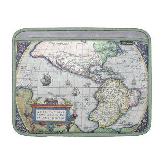 Mapa del nuevo mundo 1570 de Américas Fundas MacBook